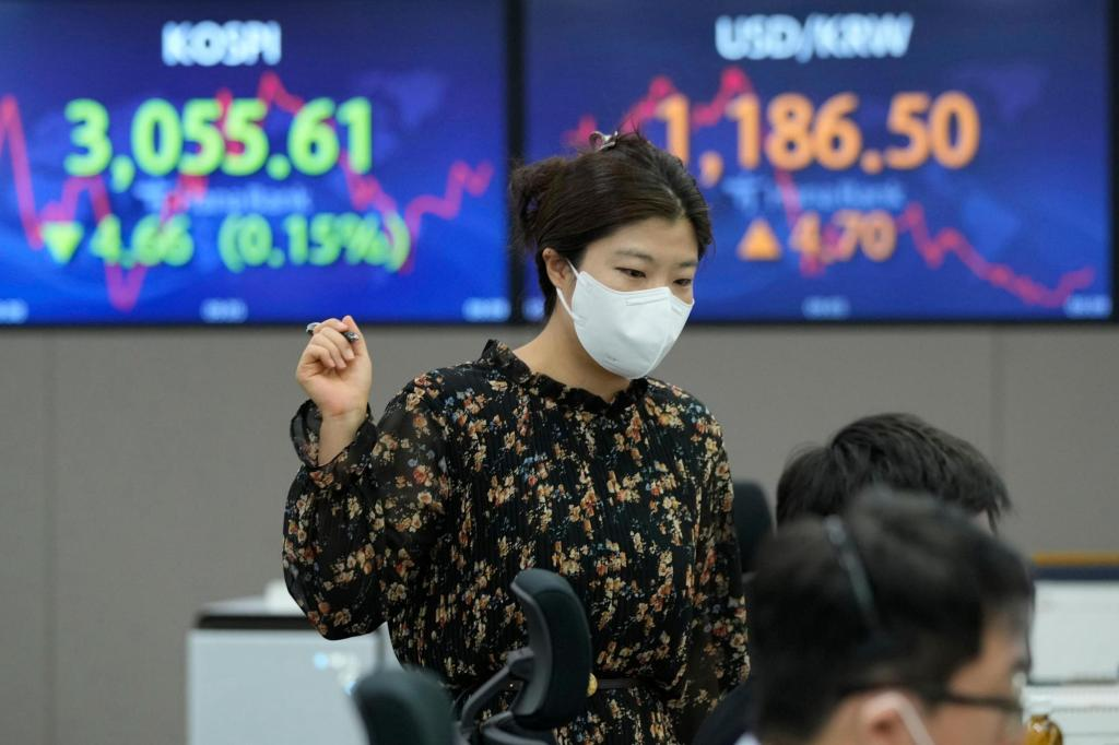 Asian stocks mostly up after a mixed session on Wall Street