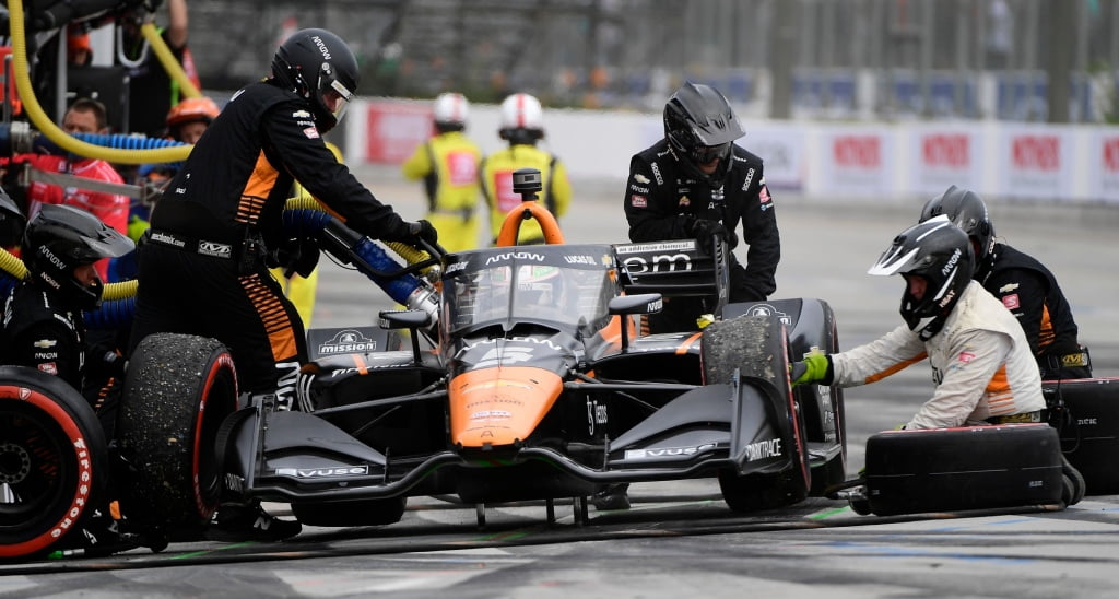 Long Beach's Acura Grand Prix: Pato O'Ward is fit to be tied after being hit early by Ed Jones