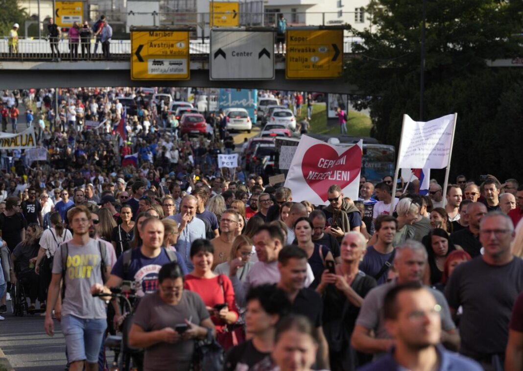 Slovenia discontinues the J&J vaccine after the young woman's death;  Massive protests began in the capital