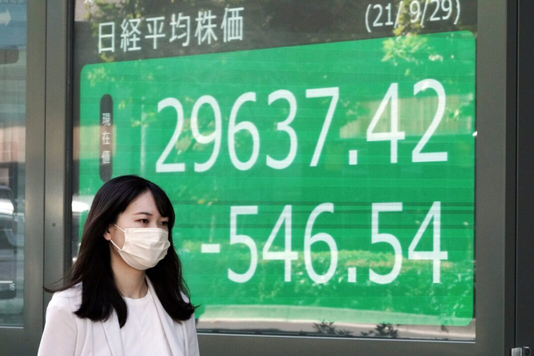 World shares mixed after a broad slide on Wall Street