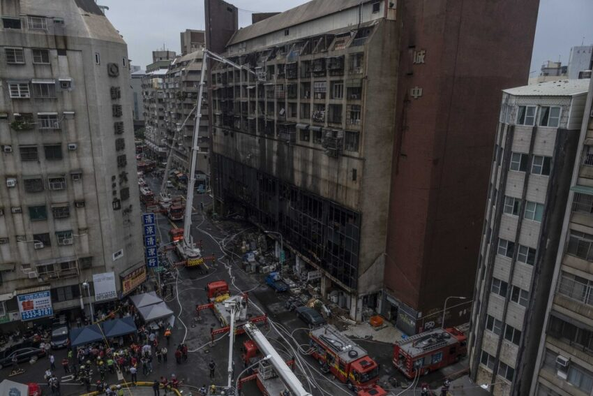 Dozens killed in fire in Taiwan apartment building