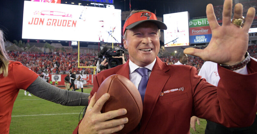 Gruden, Already Out of a Job, Is Losing Relationships Too