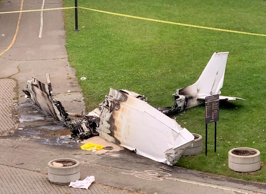 The plane was carrying a marriage proposal banner at the deadly crash center in Montreal