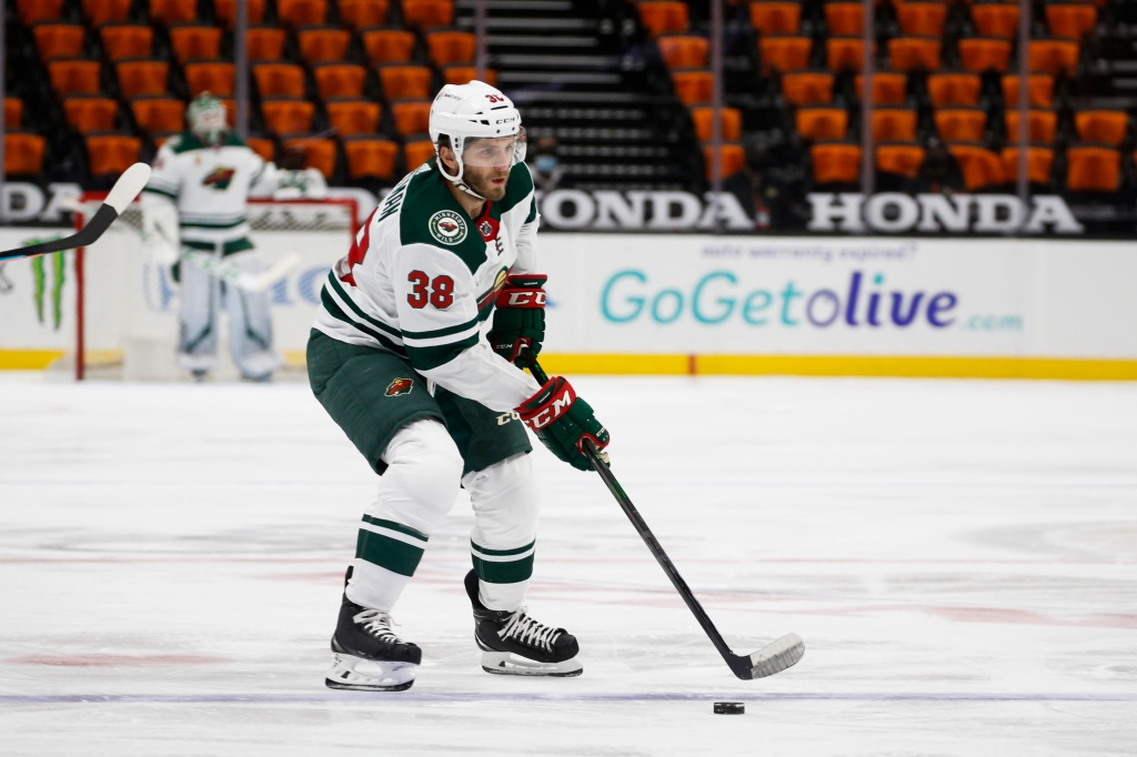Wild center Ryan Hartman proud as man in the middle
