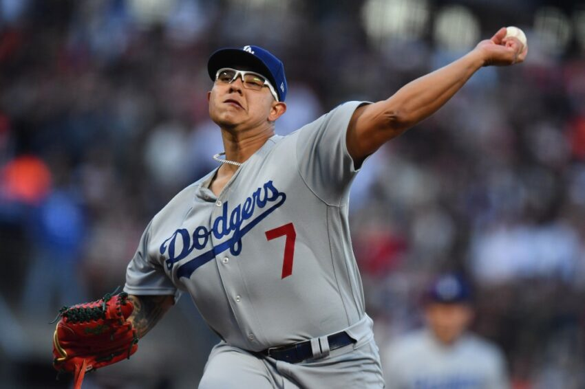 Wonder!  Dodgers start pitchers hours before NLDS Game 5 vs. SF Giants
